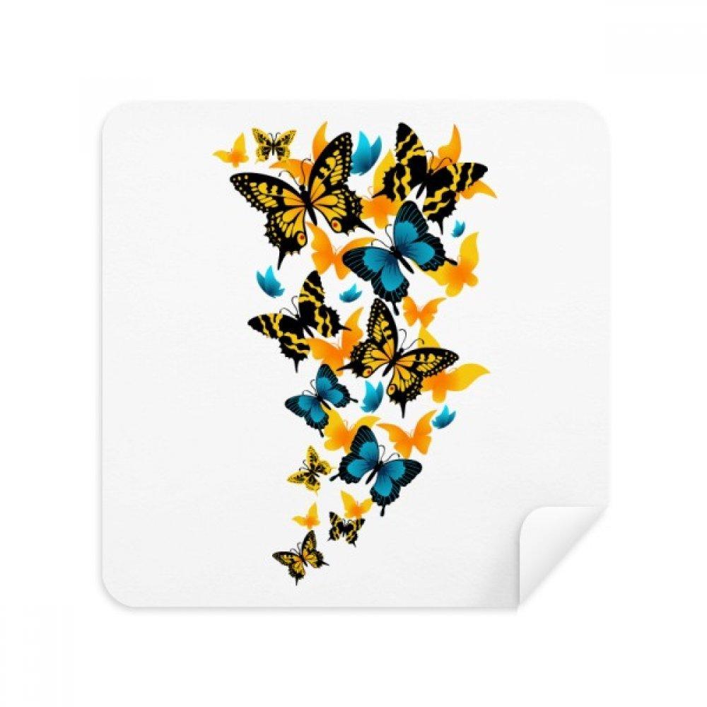Butterflies異なるカラーメガネクリーニングクロス電話画面クリーナースエードファブリック2個入り   B07C97VFWJ