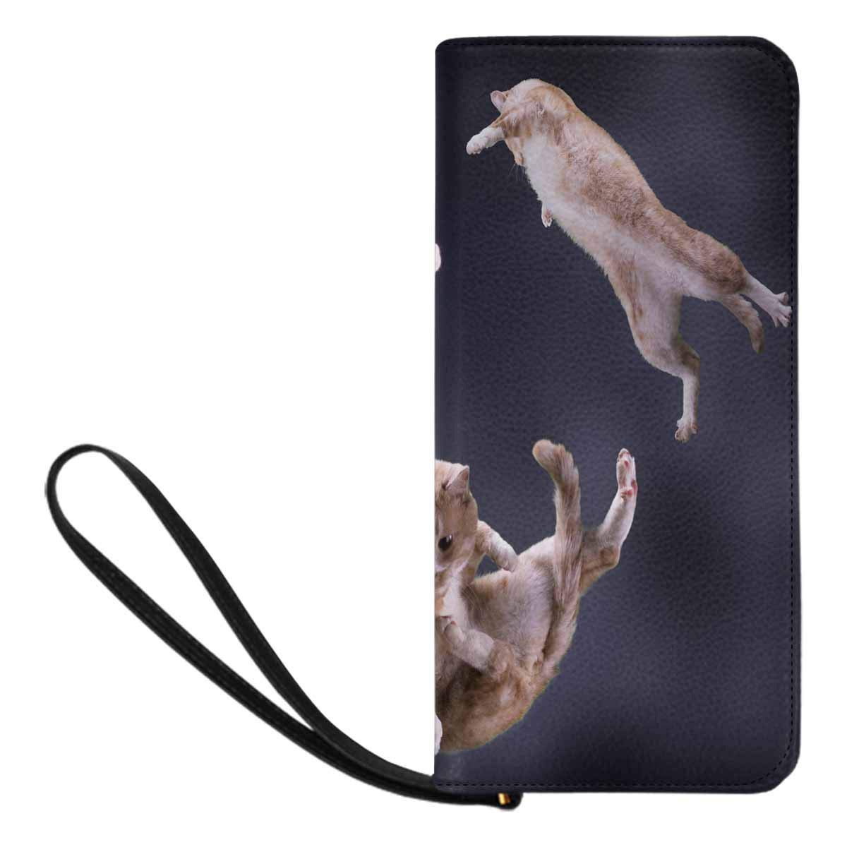 InterestPrint Womens Three Cats Jumping in Spac Clutch Purse Card Holder Organizer Ladies Purse