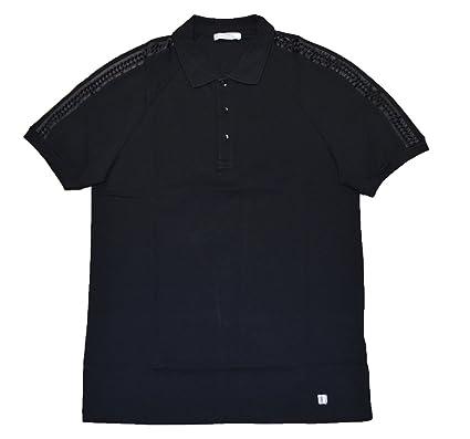 Versace Collection - Polo - Uni - Col Chemise Classique - Homme Noir Noir  Large - 6ede6d2686d