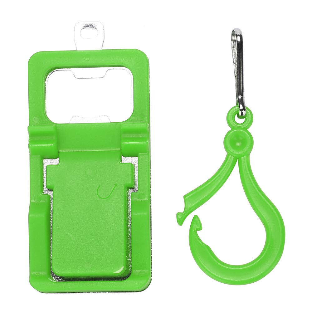 Universal Bottle Opener & Cell Phone Stand Holder, Choosebuy Mobile Phone Mount Bracket Tablet Tab Ring for Desk Table, Portable Collapsible Design (Green)