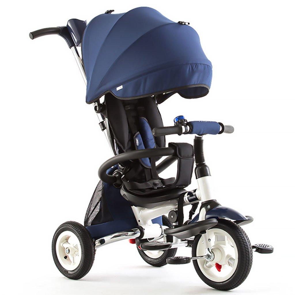 CGN 子供用自転車、折りたたみ式子供用三輪車自転車赤ちゃん自転車の赤ちゃんキャリッジ soft B07C4NZNGN 青
