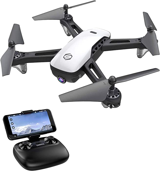 SANROCK U52 Drone with Camera for Kids and Adults, WiFi Live Video FPV Drones, RC Quadcopter Toy with 720P HD Camera for Beginners, App Control, Headless Mode, Altitude Hold, Route Made, 3D Flip, Return Home