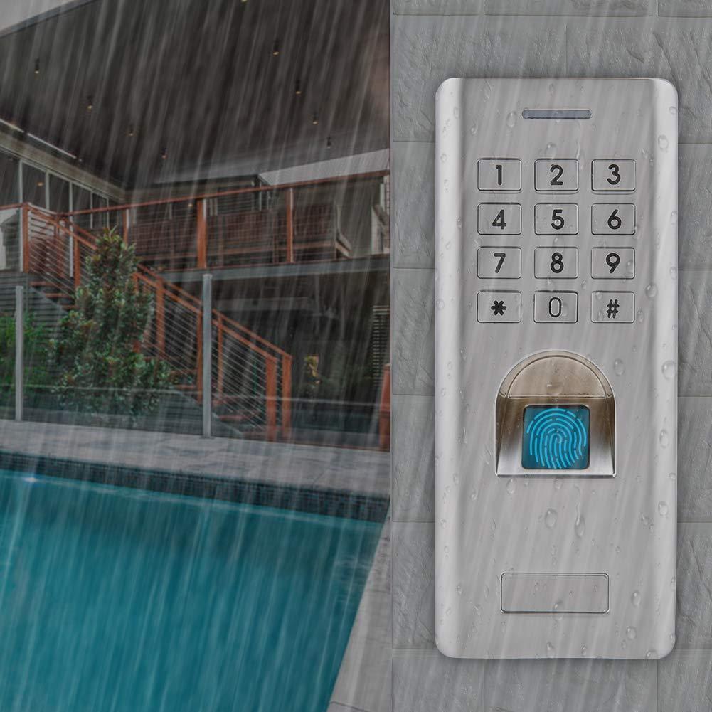 Sistema de Control de Acceso de Huellas Dactilares Salida Wiegand de 26 d/ígitos 2000 abrepuertas con Teclado Entrada de Seguridad a Prueba de Agua IP66 admite 1000 Huellas Dactilares