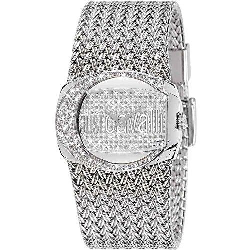 Just Cavalli R7253277545 - Reloj analógico de cuarzo para mujer con correa de acero inoxidable, color plateado: Amazon.es: Relojes