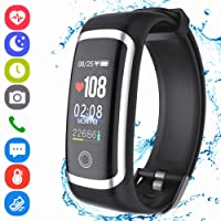 Fitness Tracker HR, Activity Tracker Smart Wristband with Pedometer Heart Rate Blood Pressure Monitor Sleep Monitor IP67 Waterproof Call SMS SNS Alert for Men Women Kids Android IPhone