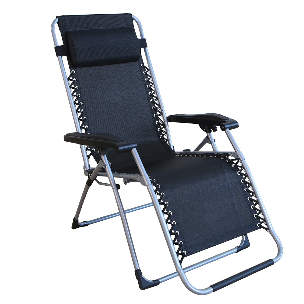 Le Papillon All Seasonal Zero Gravity Chair Adjustable Recliner with Removable Suede Cushion