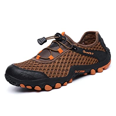 8c0bcf089948 FEOZYZ Men s Breathable Lightweight Laces up Watershoes Mesh (6.5 US 39 EU   Footlength