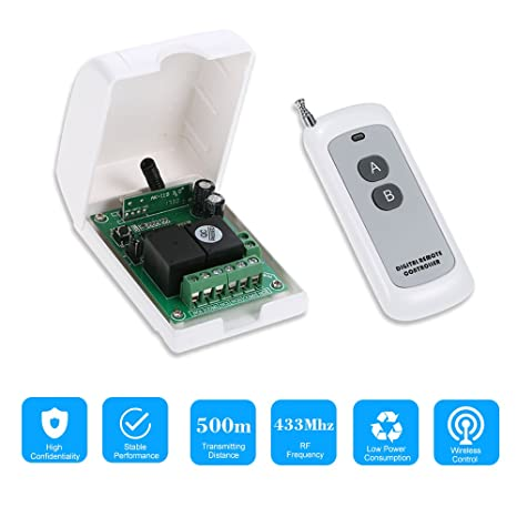 Walmeck Smart Home 433Mhz RF DC 12V 2CH Learning Code