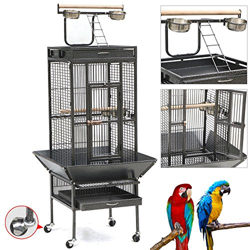 metal-bird-cage-with-stand-parrot-finch-macaw-cockatoo-pet-bird-sullies