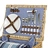 Best Choice Products 4 Person Wicker Picnic Basket