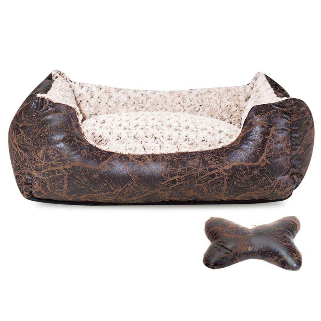 Brown XINGZHE Pet Dog Bed-velvet Mattress Pet Bed for Dogs & Cats-Pet Products Deluxe Sleep Mattress Orthopedic Plush Mattress Pet bed (color   Brown)