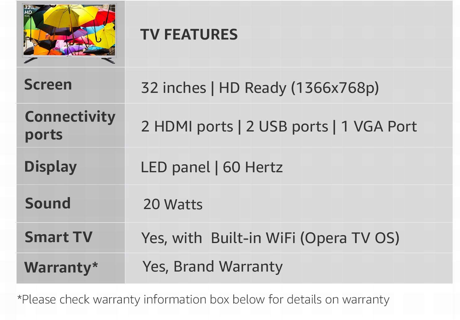 Micromax 80 cm (32 Inches) HD Ready LED Smart TV Binge Box (Metallic  Silver) (2017 model)
