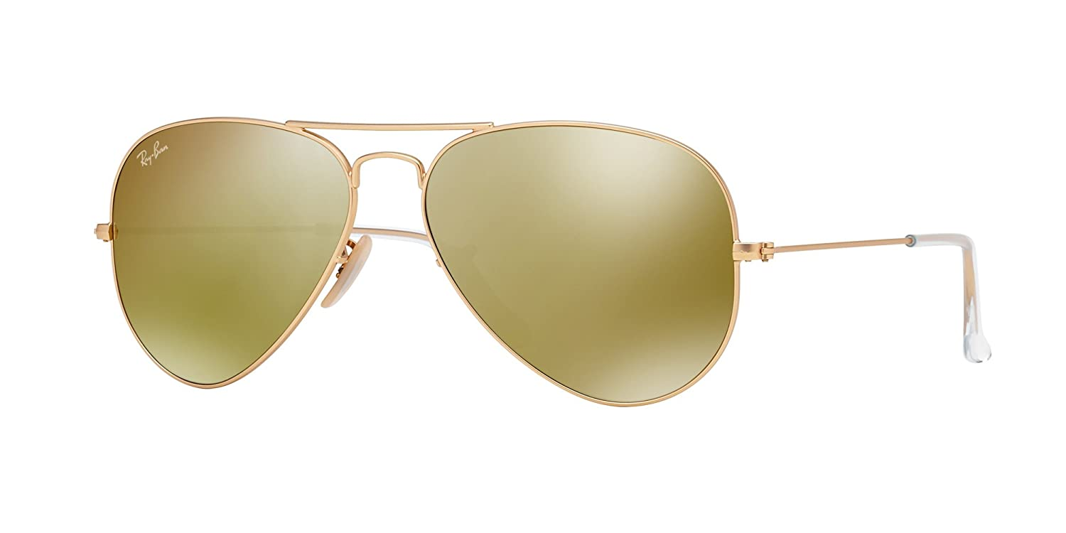 7ae848ffbf Amazon.com  Ray Ban RB3025 112 93 58 Matte Gold Gold Mirror Large Aviator  Bundle-2 Items  Shoes