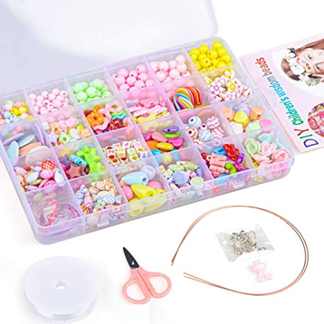 DIY Bracelet Jewelry Making Kit Letter and Bead Gift for Girl Age 4 5 6 Year Old