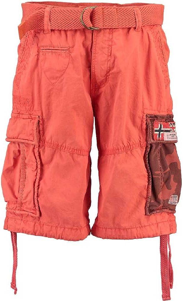 Geographical Norway Paragone Hombres Cargo Shorts Bermudas Pantalones cortos de verano