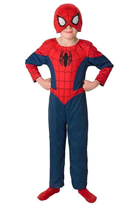 Rubies SPIDERMAN ~ reversible Ultimate Spider-Man - Traje Niños 5-6 años