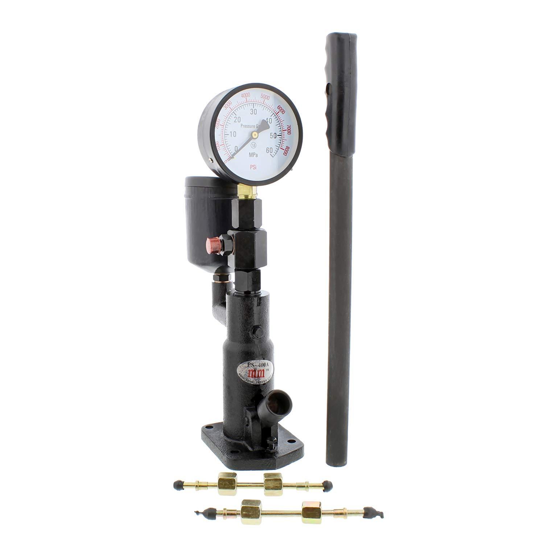 ABN Fuel Injection Nozzle Tester – Fuel Injector Tester Kit – 0-600 Bar Dial Gauge / 0-8700 PSI Gauge for Diesel Fuel