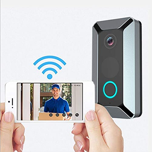 YINGBO Video Doorbell,WiFi Smart Wireless Doorbell 720P HD Security Home Camera Real-Time Video and Two-Way Talk,Night Vision,Motion Detection App Control for iOS Android Without Battery