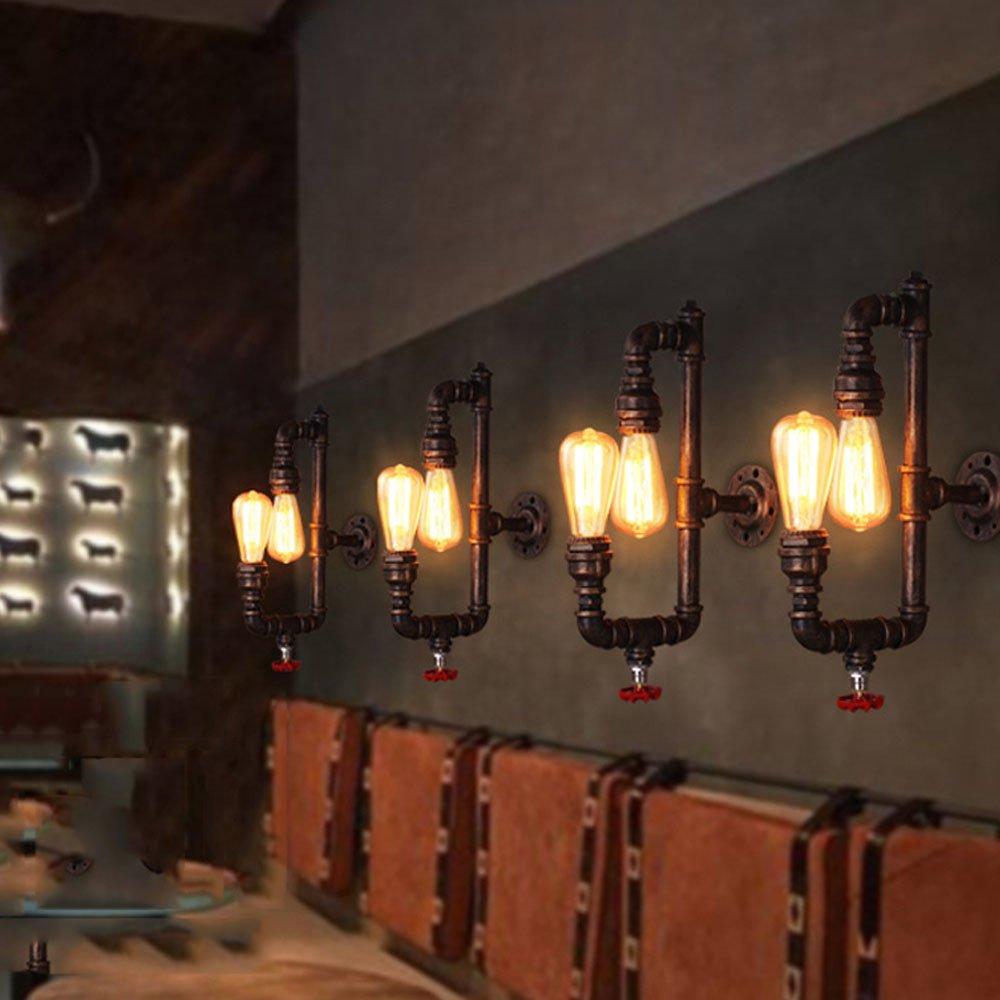 Amazon com aokarlia premium industrial wall light metal sconce light fixture for bar kitchen purple bronze home kitchen