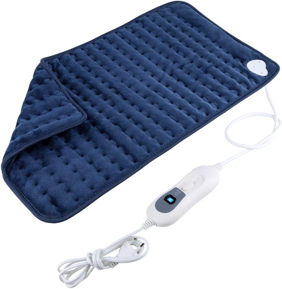 Almohadilla Eléctrica Térmica Calentamiento Rápido con Función de Apagado Automático Lavable a Máquina Alivia Dolor Muscular para Espalda Cuello Hombros Piernas