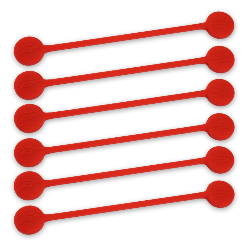 TwistieMag Strong Magnetic Twist Ties - The Lady In Red Collection - Cherry Red 6 Pack - Super Powerful Unique Solution For Cable Management, Hanging & Holding Stuff, Fidget Toy, Or Just For Fun! by Monster Magnetics