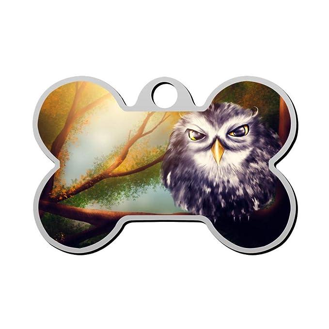 Placa de identificación para Mascota, diseño de búho, con Forma de ...