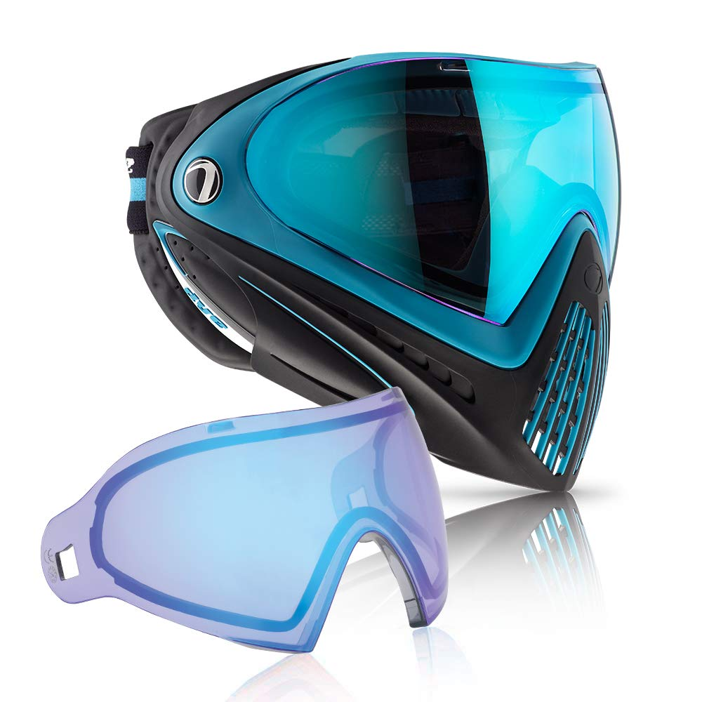 Dye i4 Paintball Goggle (Powder Blue with Blue Ice Thermal Lens Combo) by Dye