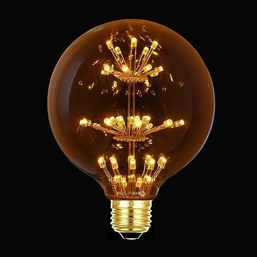 E27 G95 bombilla LED Globe Edison decorativa lámpara, KINGCOO envejecido, 3 W 220 –