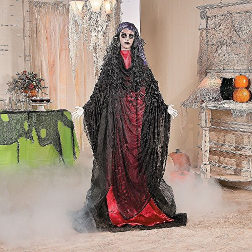 HALLOWEEN LIFESIZE ZOMBIE GOTHIC GYPSY FORTUNE TELLER PROP -