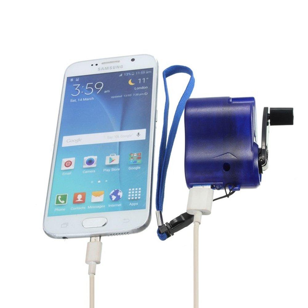 tel/éfono m/óvil navegador port/átil USB de Emergencia con Cambiador de Dinamo Camping Senderismo para Viajes al Aire Libre MP4 SYN Cargador de manivela de Mano