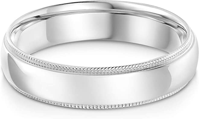 Solid 14K Yellow Gold 3mm Men Women Wedding Rings w//Engraved Hearts//Beaded Edge