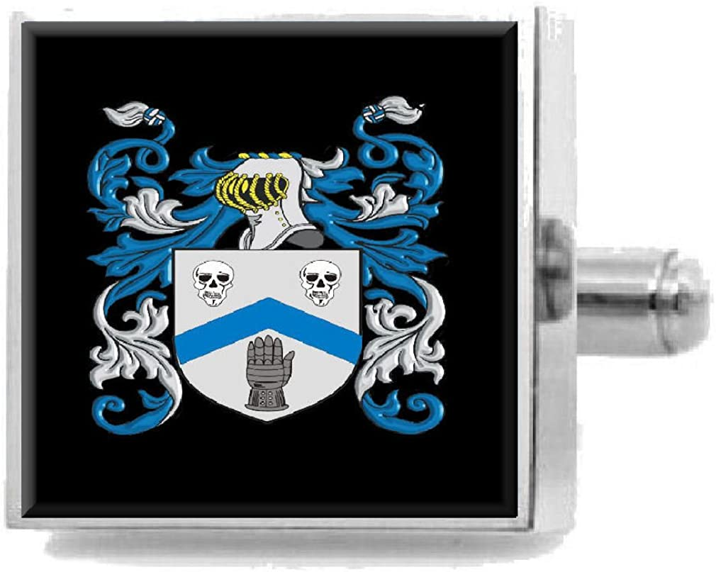 Select Gifts Mcleish Scotland Family Crest Surname Coat Of Arms Cufflinks Personalised Case