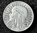 Second Polish Republic (1918–1939). Silver 5 Zloty 1933 (ZLOTYCH, Poland WARSAW mint coin).