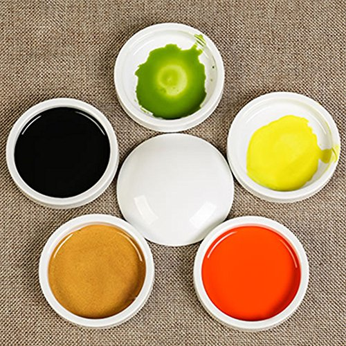 FJ055 Hmayart Five Layers Color Plates Set/Porcelain Five-Layer Mixing Trays Set by Hmay Art Color