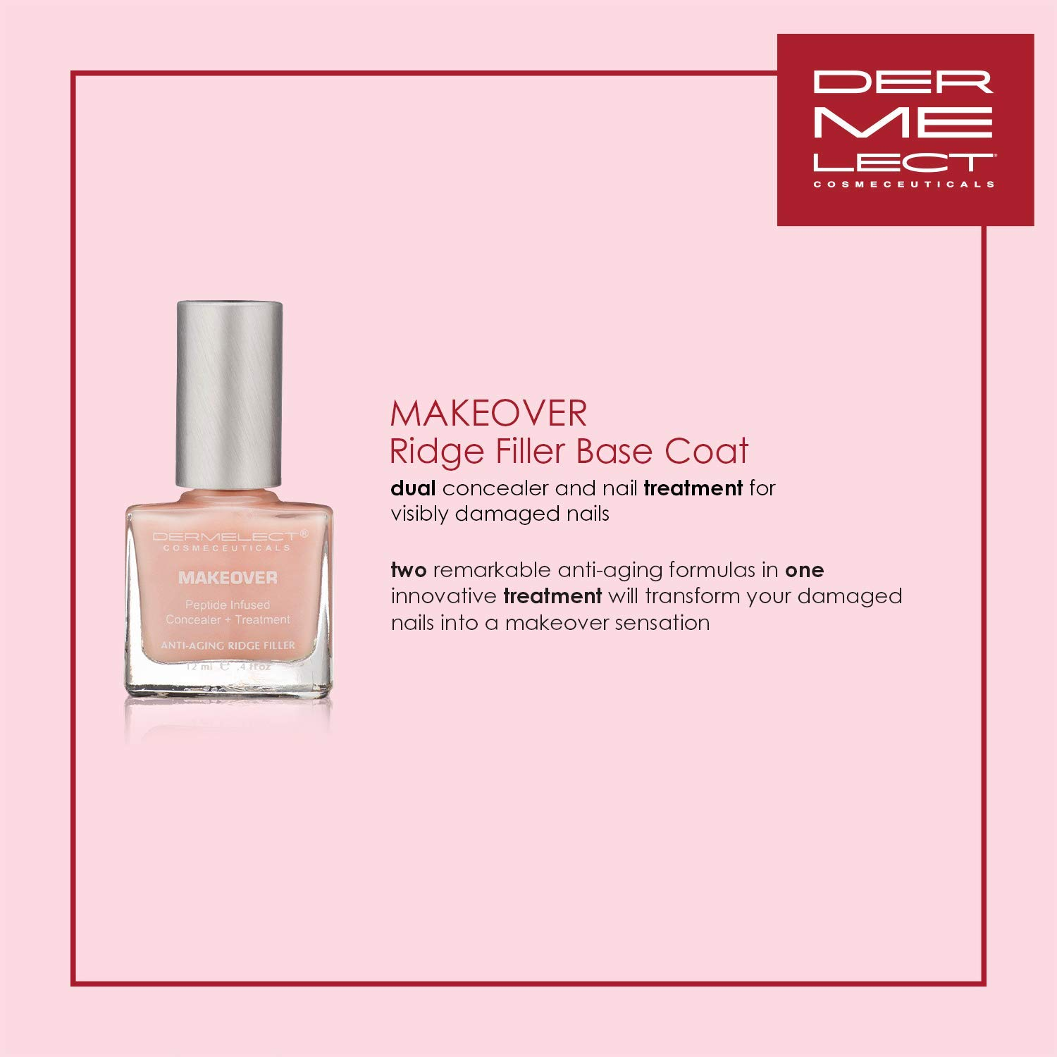 Dermelect Cosmeceuticals Nail Recovery System, 2.2 Ounce : Nail Repair Products : Beauty