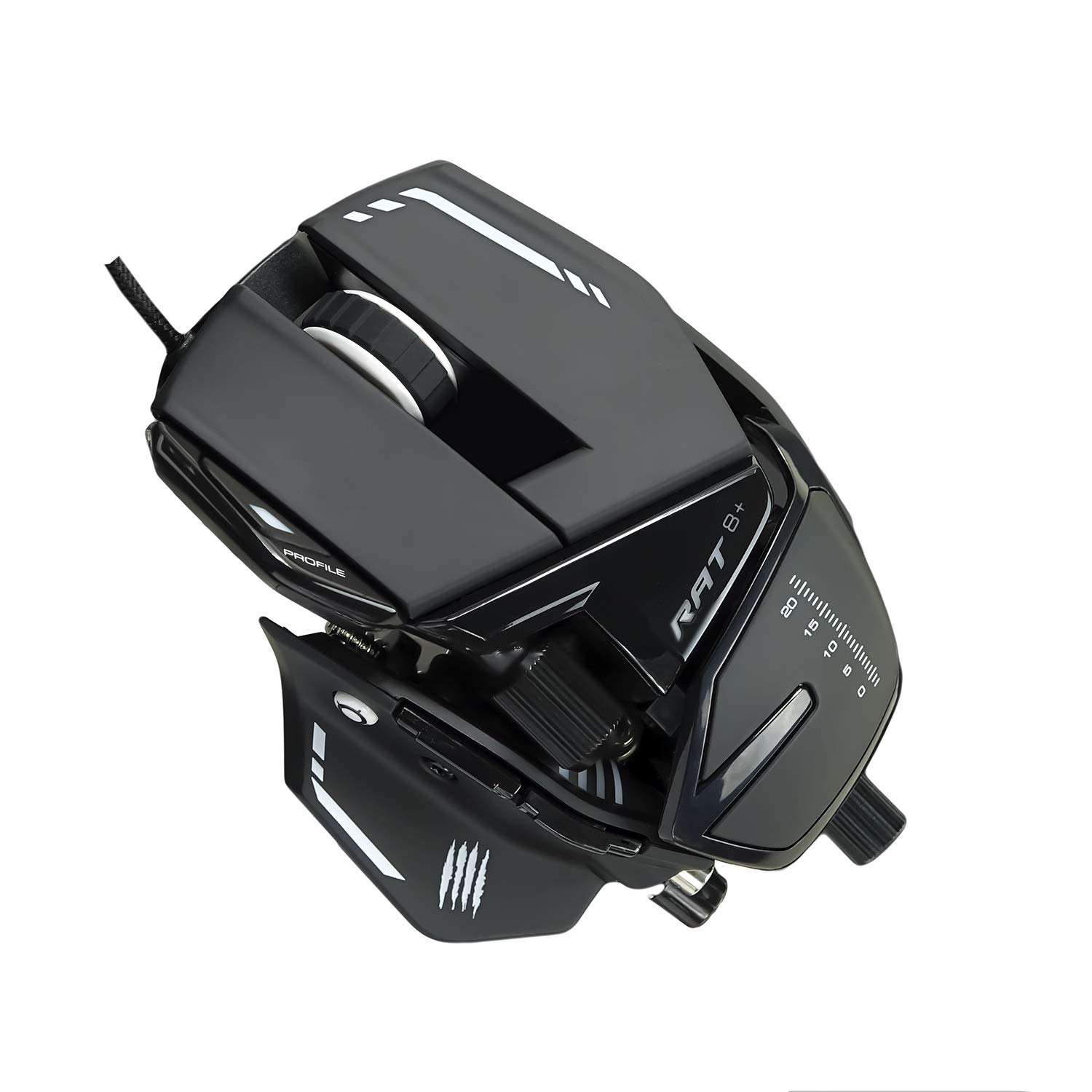 Mad Catz The Authentic R.A.T. 8+ Optical Gaming Mouse - MR05DCAMBL00