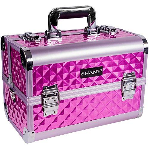 SHANY Premier Fantasy Collection Makeup Artists Cosmetics Train Case - Purple diamond (Eleganza Diamond)