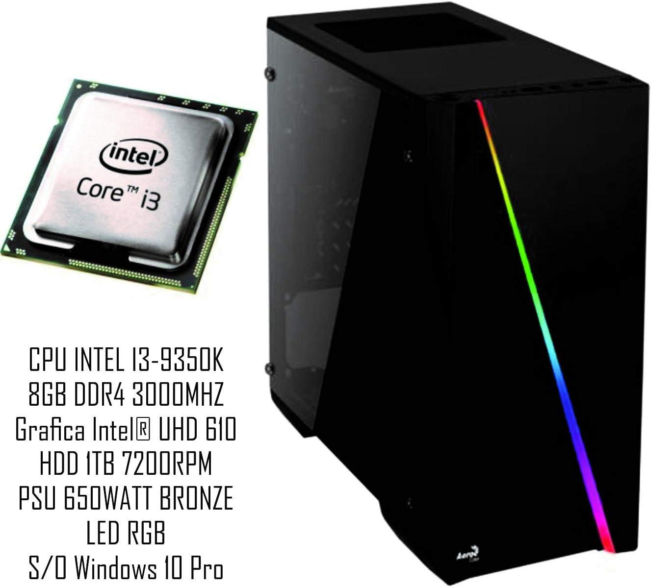PC Gaming Redi GX4010TB Intel i3-9350k B365M DDR4 8GB 3000 1TB 7200RPM 650W bronce