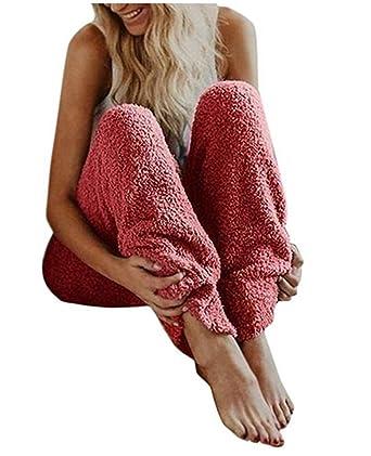 Pantalones de Pijama de Felpa de Invierno para Mujer Pantalones de ...