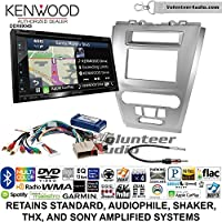 Volunteer Audio Kenwood Excelon DNX694S Double Din Radio Install Kit with GPS Navigation System Android Auto Apple CarPlay Fits 2010-2012 Fusion (Silver)