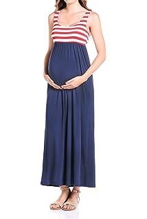c529191ec1c06 Beachcoco Women's Maternity Maxi Tank Dress Made in USA at Amazon ...