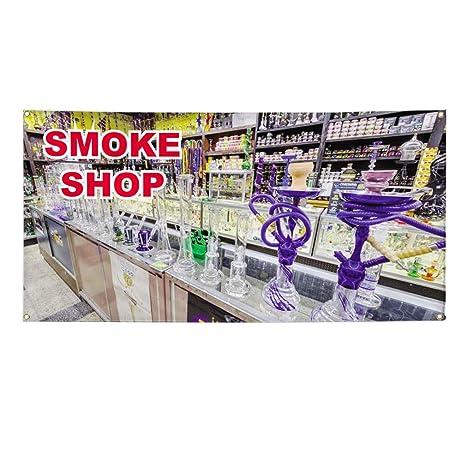 Amazon.com: Vinyl Banner - Cartel de la tienda de humo #1 ...