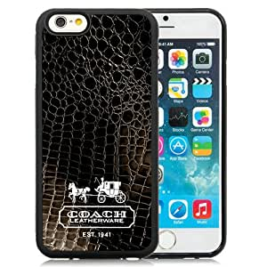 Coach (1) Black Fantastic Recommended Customized iPhone 6 4.7 Inch TPU Phone Case