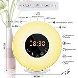 dostyle Wake Up Light Alarm Clock with Sunrise