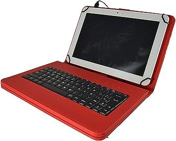 theoutlettablet® Funda con Teclado extraíble en español (Incluye Letra Ñ) para Tablet Lenovo TB-X103F 10.1