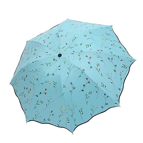 LINGDANG Parasol De Goma Negra, Negro De Goma Anti - UV Sombrilla, Paraguas,