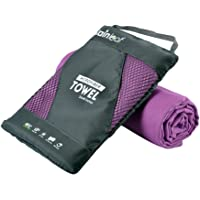 RainLeaf Microfiber Towel by Perfect Sports & Travel &Beach Towel. Fast Drying - Super Absorbent - Ultra Compact. Suitable for Camping, Gym, Beach, Swimming, Backpacking.