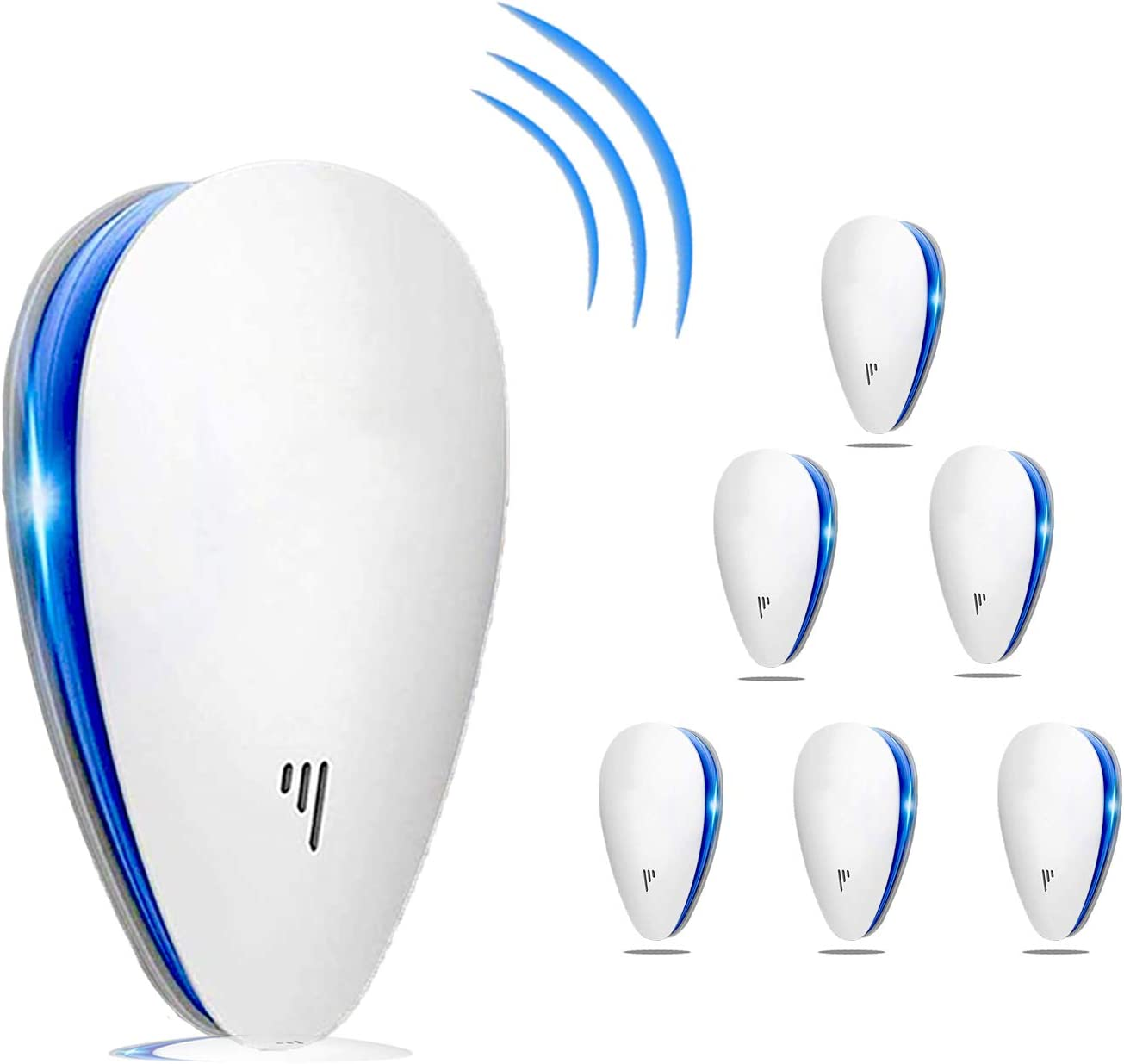 Ultrasonic Pest Repeller(6 Pack), 2020 Pest Control Ultrasonic Repellent, Electronic Repellant - Bug Repellent for Ant, Mosquito, Mice, Spider, Roach, Rat, Flea, Fly: Office Products