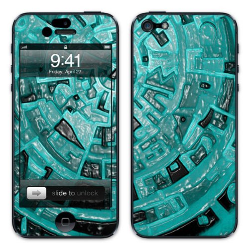 Diabloskinz B0081-0004-0056 Vinyl Skin für Apple iPhone 5/5S Blue Aztec