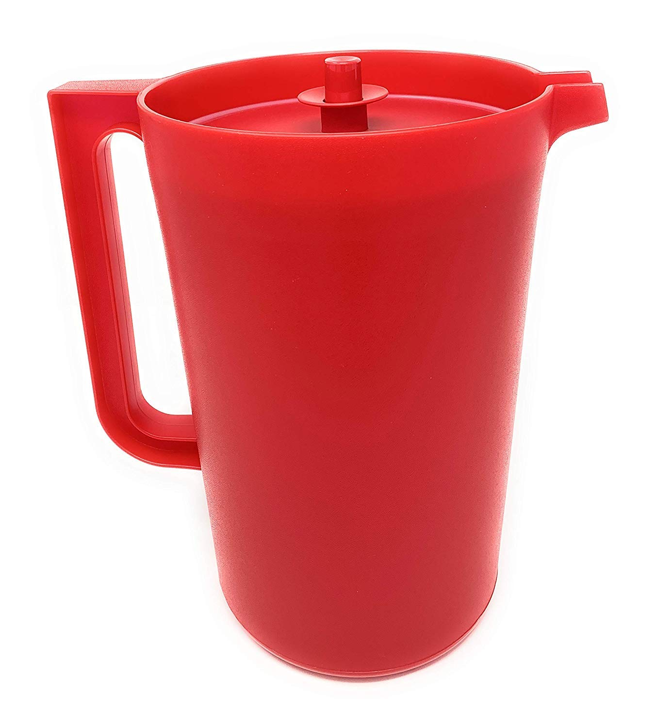 Tupperware Classic 1 Gallon RED Pitcher with Push Button Seal